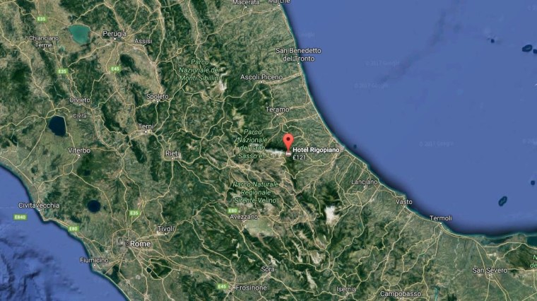 Image: Central Italy has been struck by multiple aftershocks after a 2016 quake.