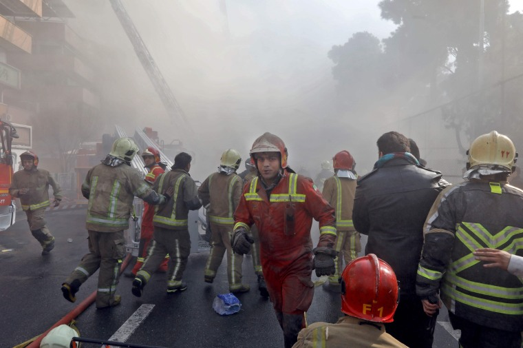 Image: Iconic Building in Tehran Collapses After Fire Killing Dozens