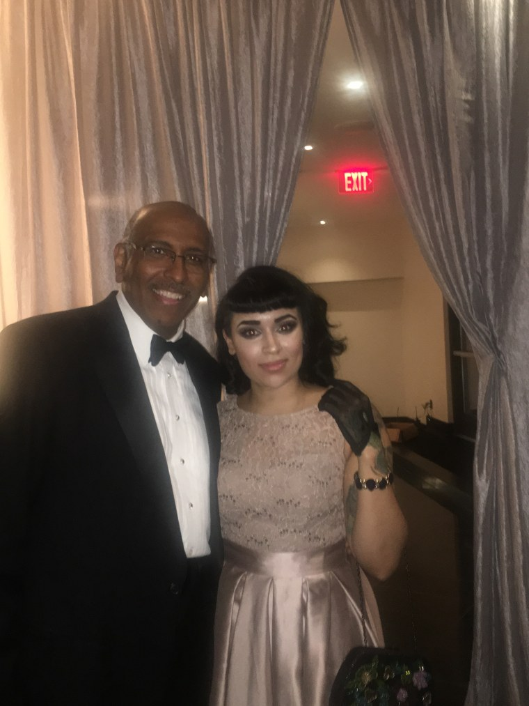 Image: Michael Steele and Lauren Peranio attend a gala in D.C. at the Watergate Hotel