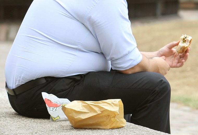 Image: Obesity warning