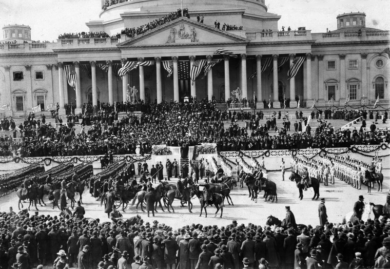 Image: President Theodore Roosevelt leaves the Capitol after his inauguration in 1901.