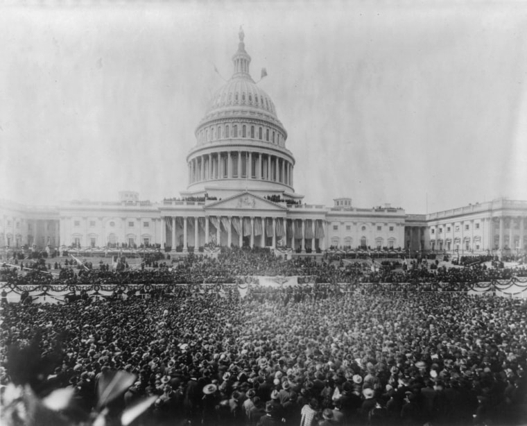 Image: President Woodrow Wilson's inauguration takes place on March 5, 1917.