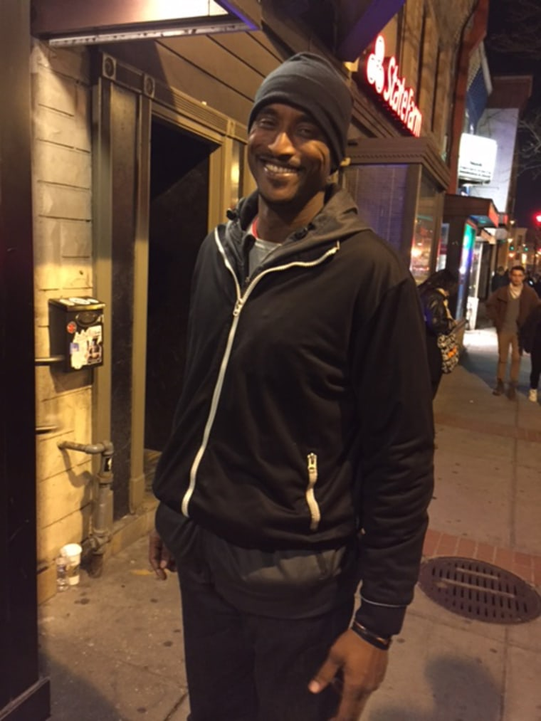 Image: Byron Roberson, a bouncer working in Washington D.C., says he'll be steering clear of Donald Trump's inauguration on Jan. 20.