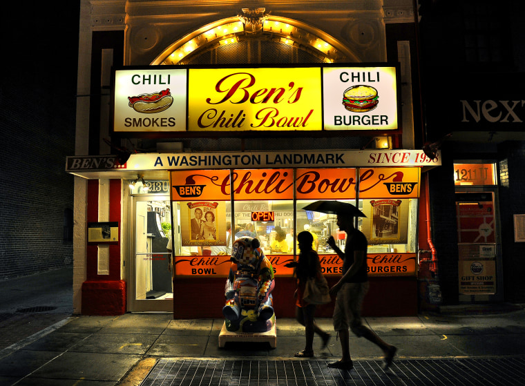 Image: Ben's Chili Bowl opening, founded by Ben and Virginia Ali, has become a Washington, D.C. landmark.
