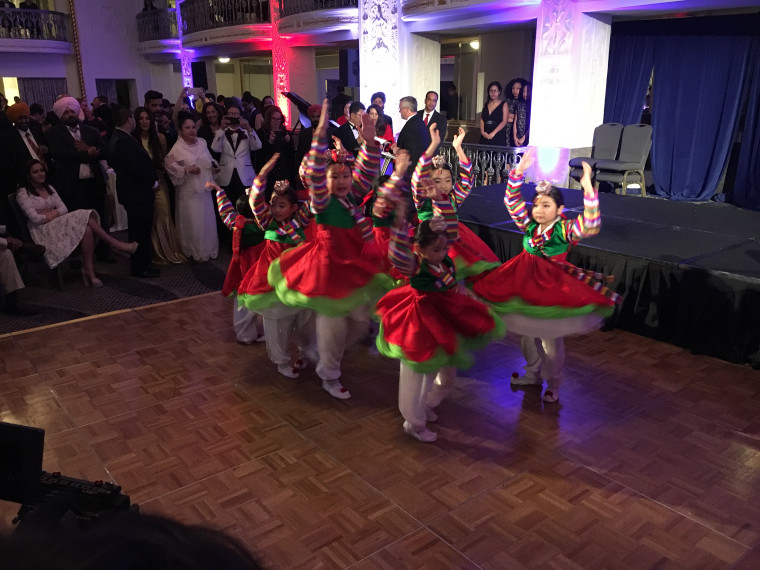 Children perform a Korean traditional dance at the APA Inaugural Gala at the Mayflower Hotel in Washington, D.C., on Thursday, January 19, 2017.