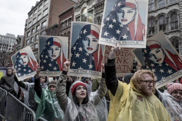Image: Protests during The Inauguration Day