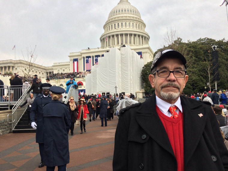 Trump supporter Cesar Lopez, of Miami, Florida, was at the nation's capital for the inauguration.