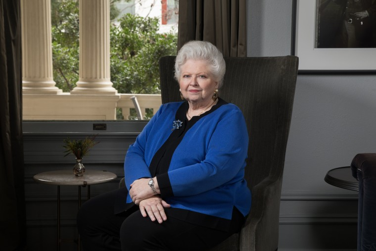 Image: Dr. Sarah Weddington, 71, a retired lawyer, former politician and activist at Hotel Ella in Austin, Texas on Jan. 20