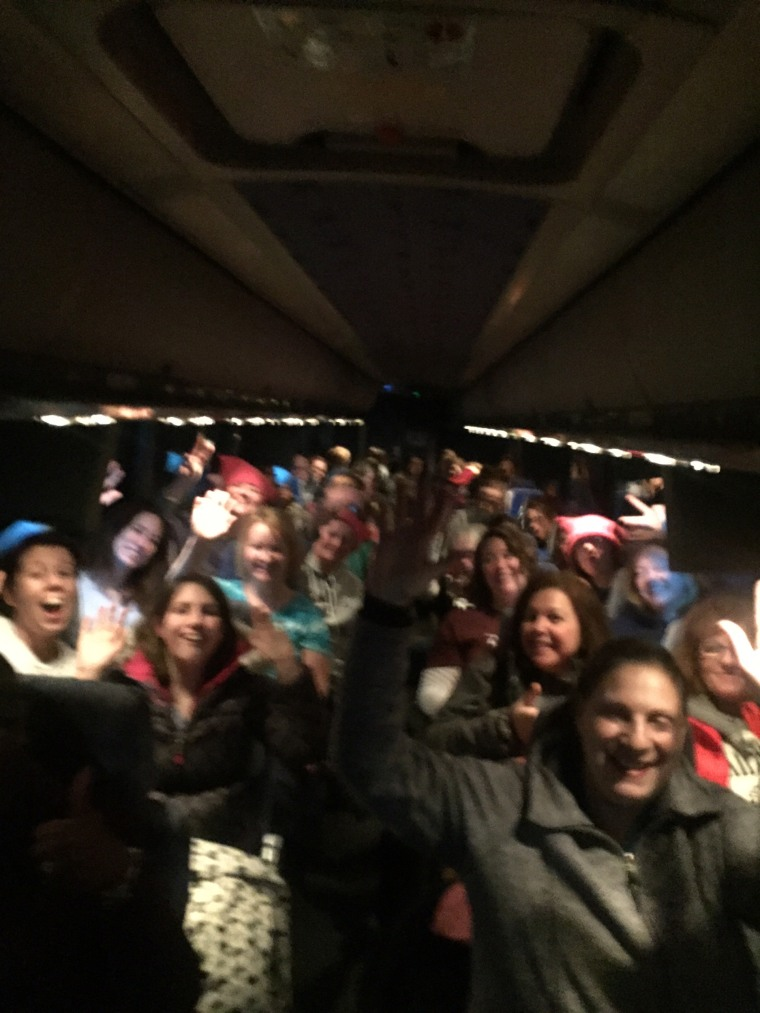 Image: A women's group from Milwaukee travels to Washington, DC, for the Women's March, Jan. 21, 2017.