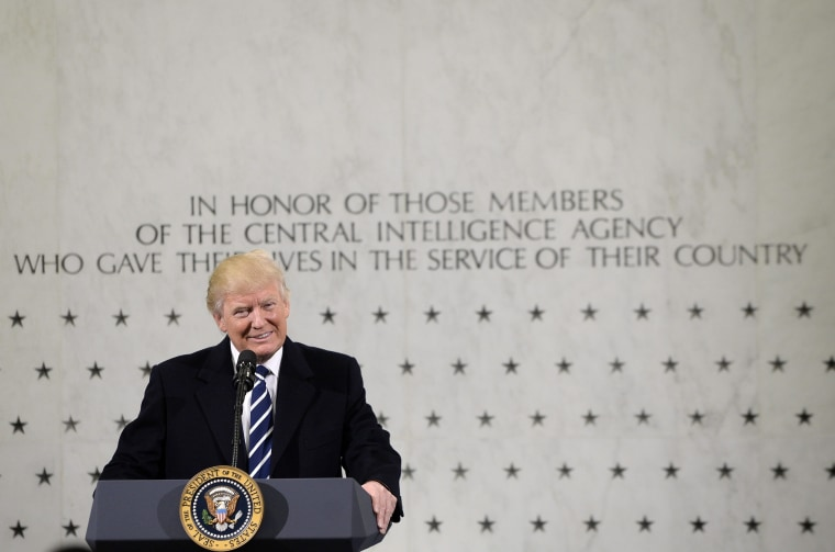 Image: US President Donald Trump visit CIA headquarters in Langley