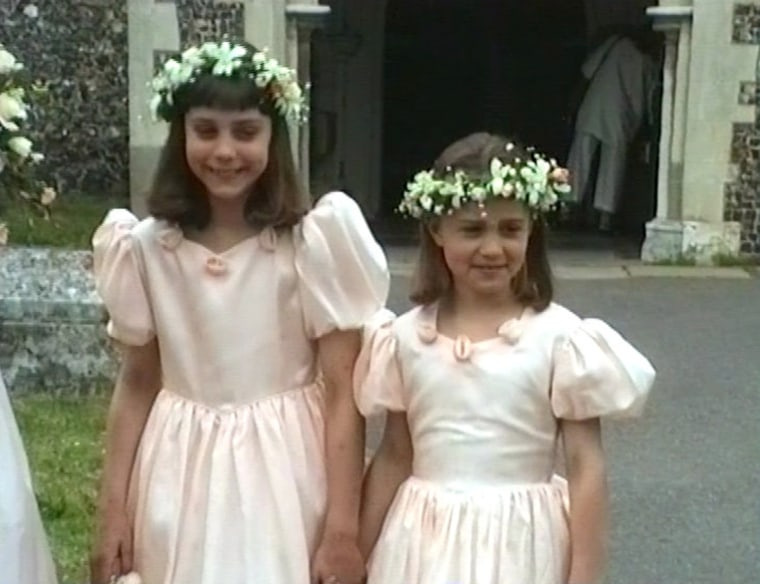 Kate Middleton, her younger and sister Pippa