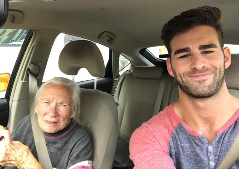 Actor Chris Salvatore took in his 89-year-old neighbor Norma Cook, who has leukemia