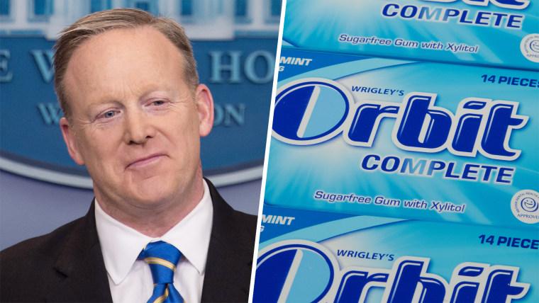 Sean Spicer, Orbit gum