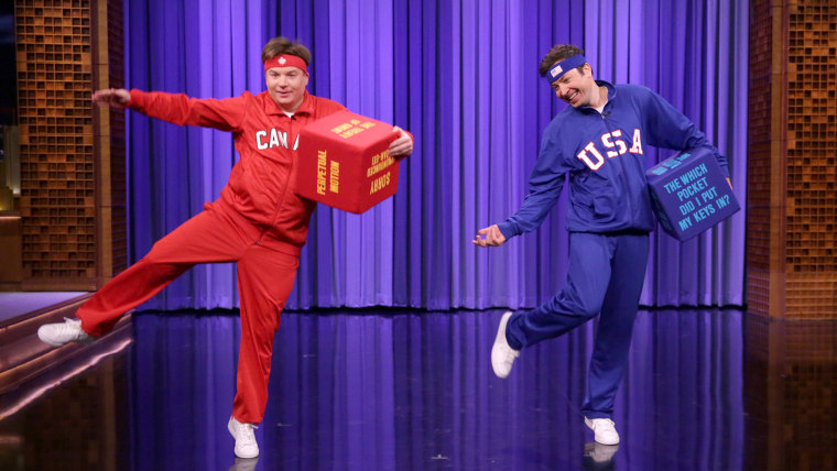 Mike Myers and Jimmy Fallon