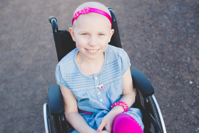 Abriel says she hopes President Trump will see her video, and help find a cure for cancer by increasing childhood cancer research funding.