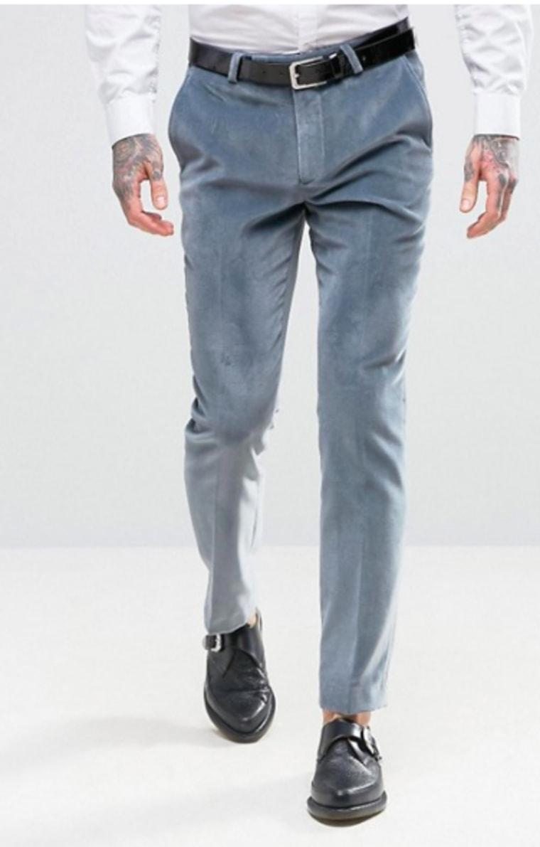 Velvet suit pants