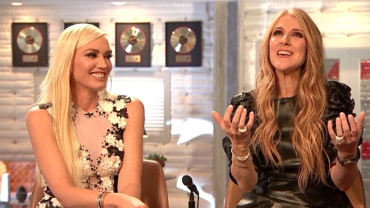 Gwen Stefani and Celine Dion
