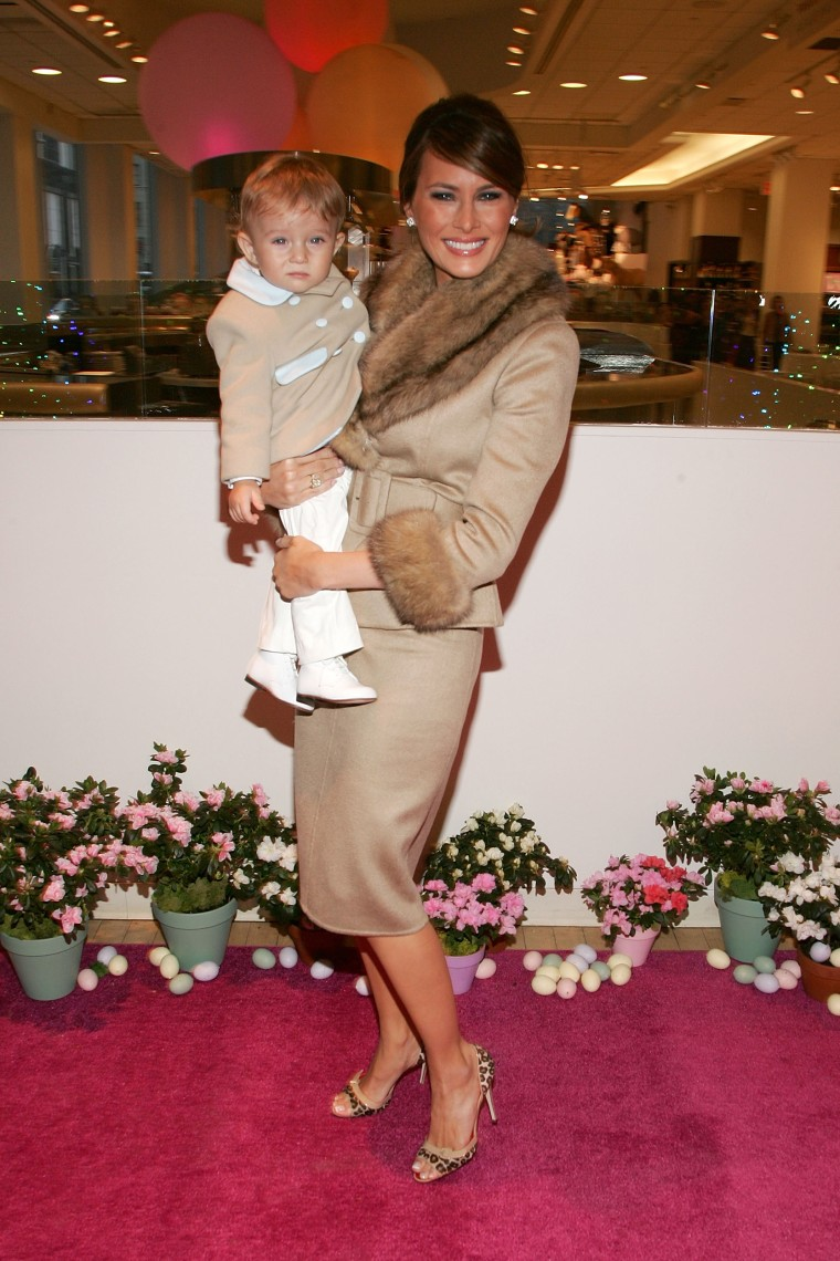 Melania Trump and her son Barron
