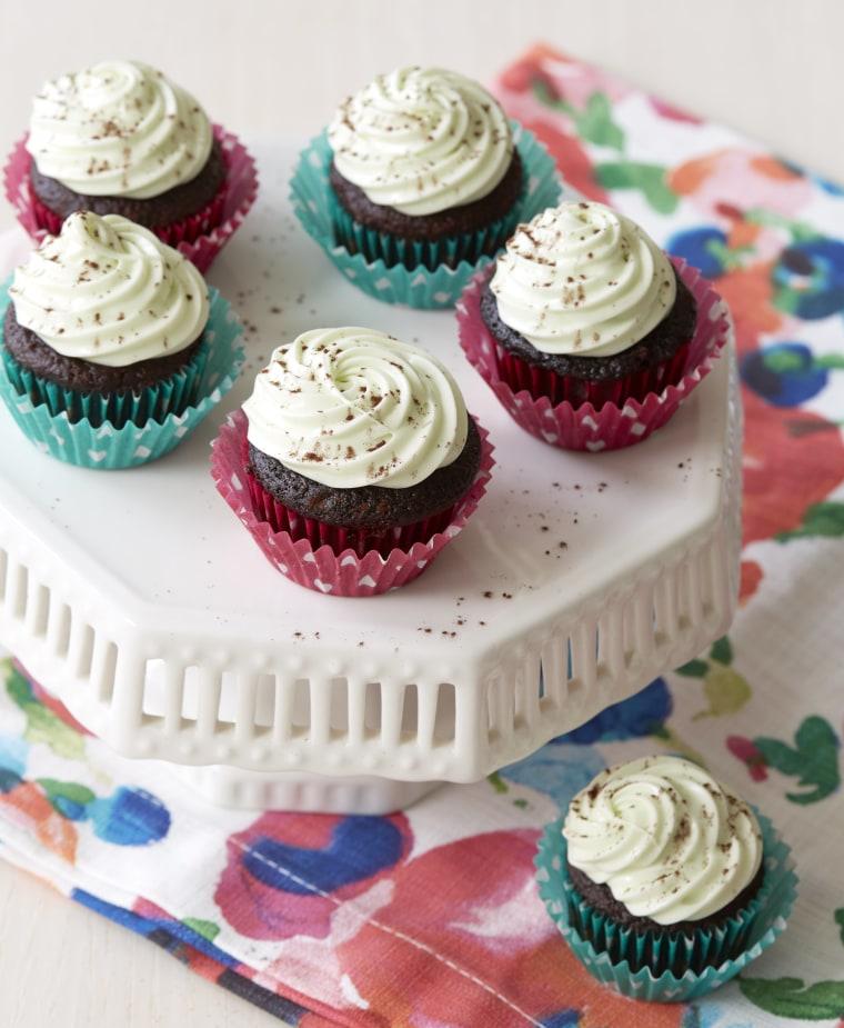 Mini chocolate chip cupcakes