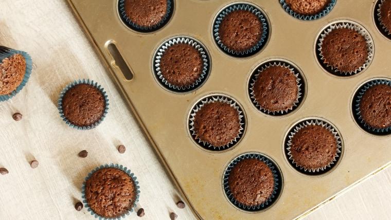 Homemade Brownie cupcakes