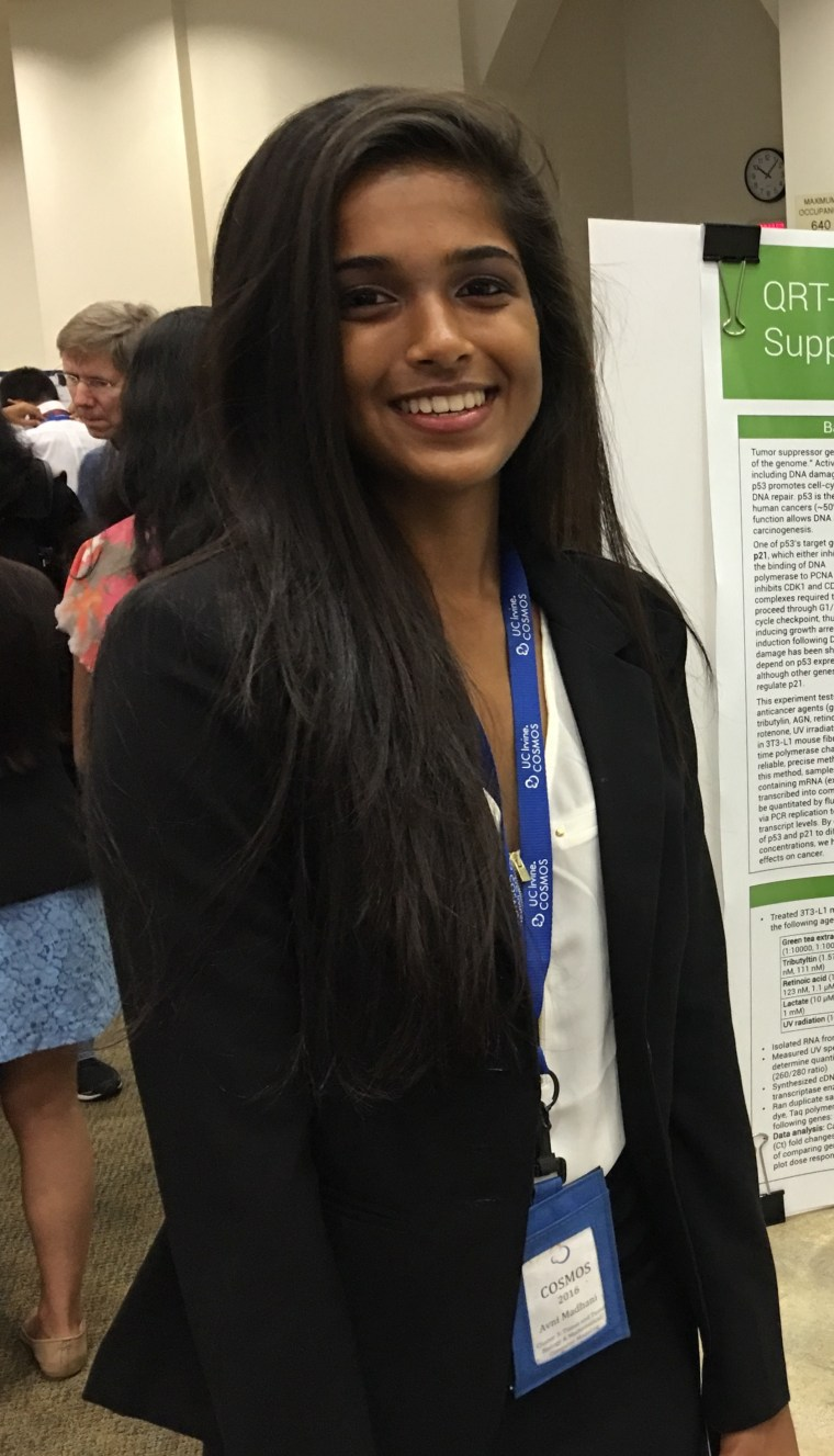 Avni Madhani, who coded and translated her website, aspires to be a doctor.