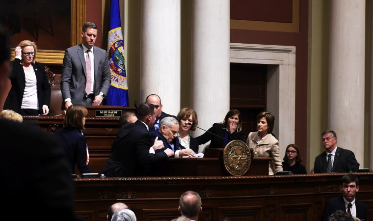 IMAGE: Minnesota Gov. Mark Dayton collapses