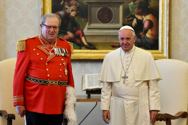 Image: Pope Francis meets Robert Festing in this June, 2016 file photo.