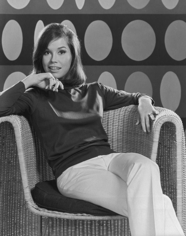 Image: Posed portrait of American actress Mary Tyler Moore circa 1969.
