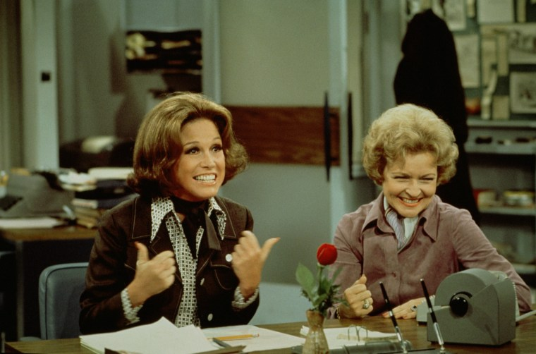Image: Moore & White In 'The Mary Tyler Moore Show""