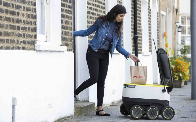 JUST EAT pilots a Starship robot to deliver food from its restaurants.