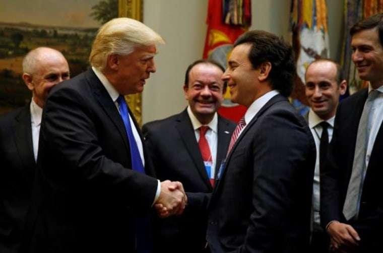 President Trump meets U.S, auto industry leaders at the White House in Washington