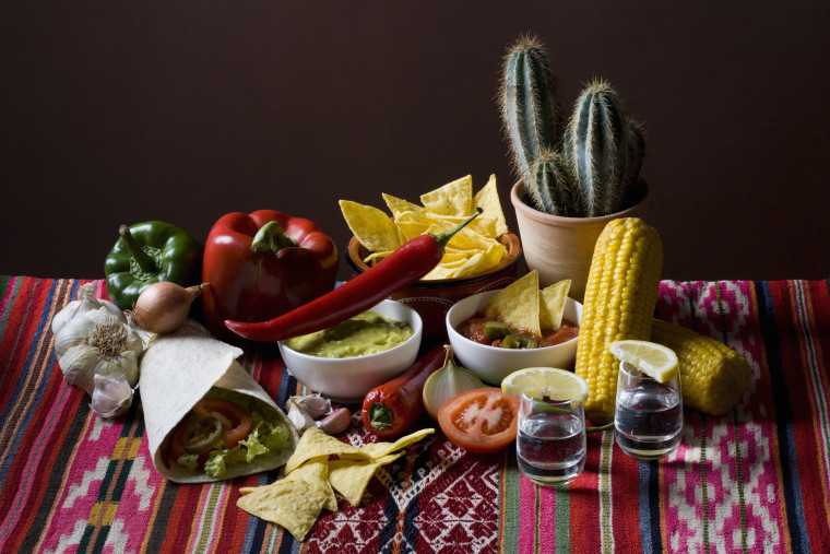 Typical Mexican food and ingredients