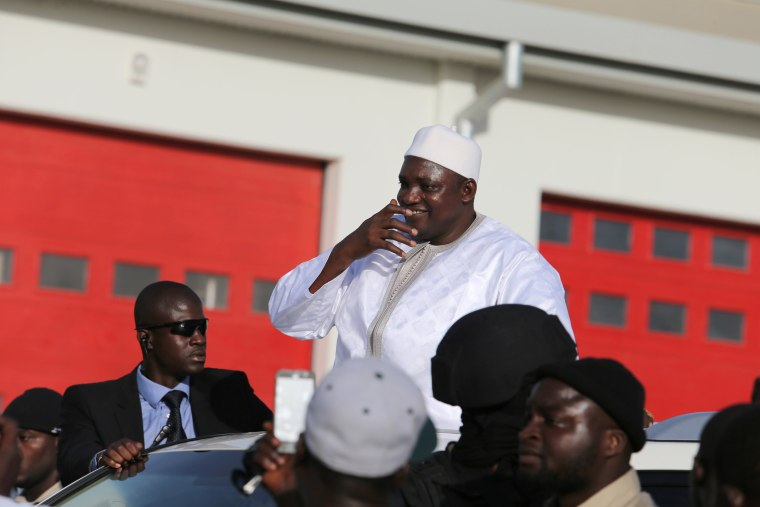 Image: Newly Elected President Adama Barrow Returns to Gambia