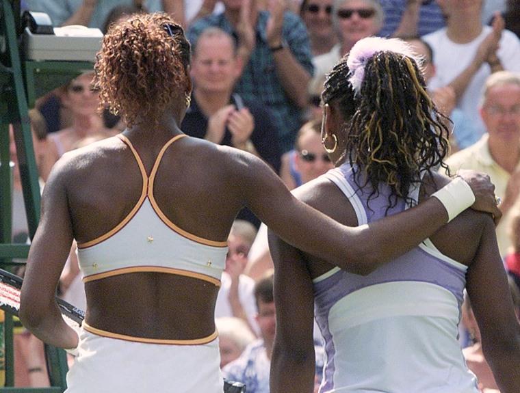 Image: Venus and Serena Williams at Wimbledon in 2000