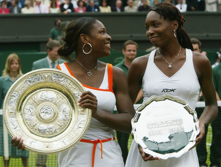 Image: Venus and Serena Williams at Wimbledon in 2003