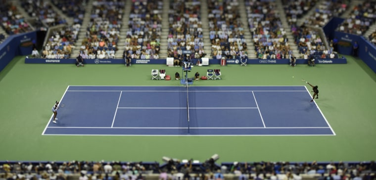 Image: Venus and Serena Williams during the U.S. Open in 2015