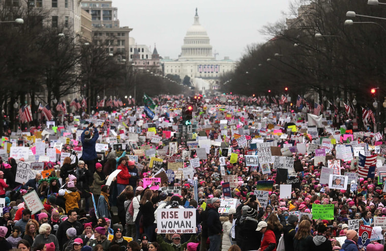 Image: Thousands Attend Women's March On Washington
