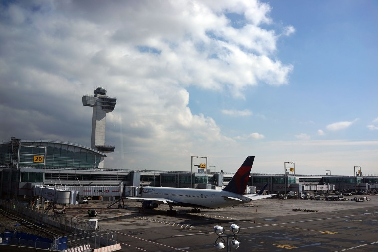 Image: A plane waits at John F. Kennedy Airport in New York.