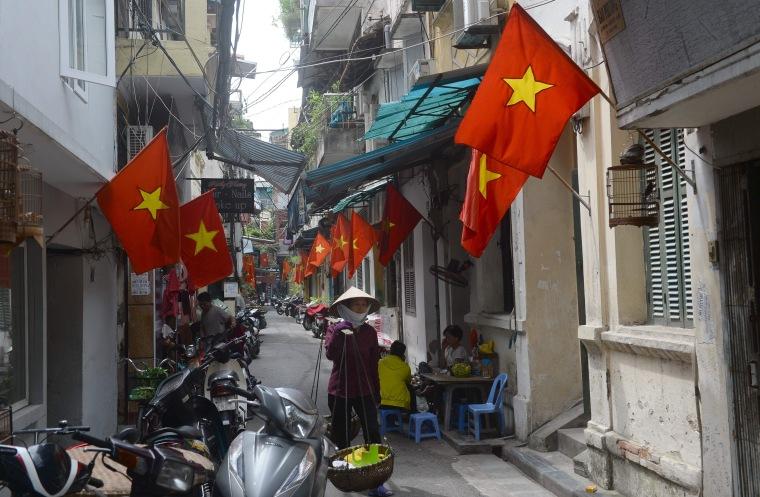 Image: VIETNAM-LIFESTYLE-TET-FLAG