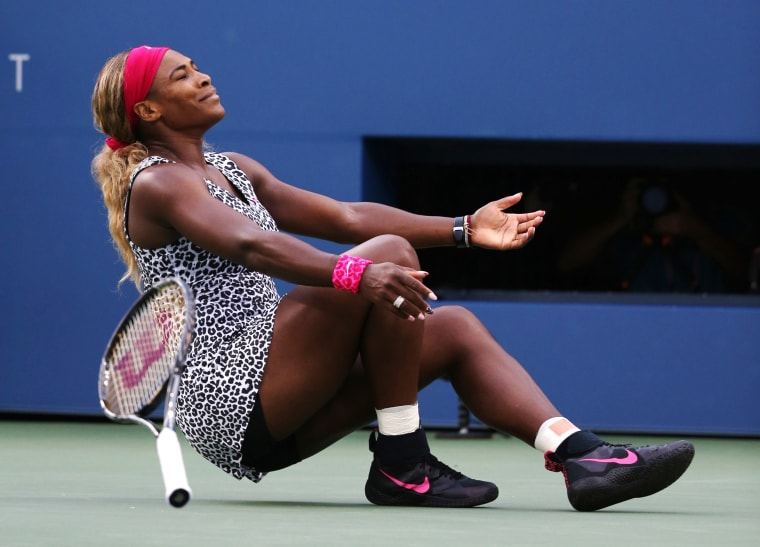Image: 2014: Serena Williams reacts after defeating Caroline Wozniacki of Denmark during the championship match of the US Open tennis tournament in New York on Sept. 7.