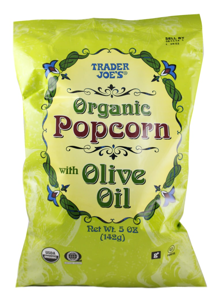 Best healthy Trader Joe's products: Organic popcorn with olive oil