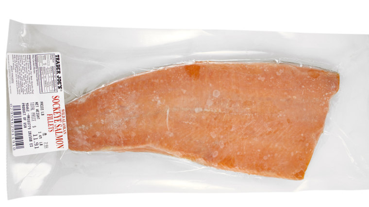 Best healthy Trader Joe's products: Frozen sockeye salmon