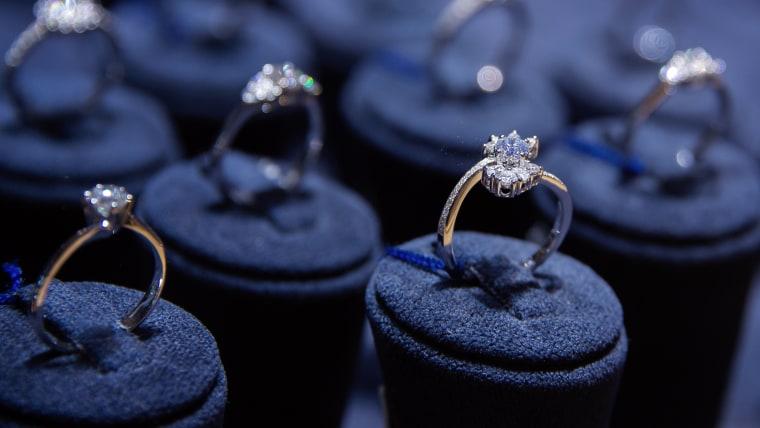 Fine luxury diamond jewelry window display
