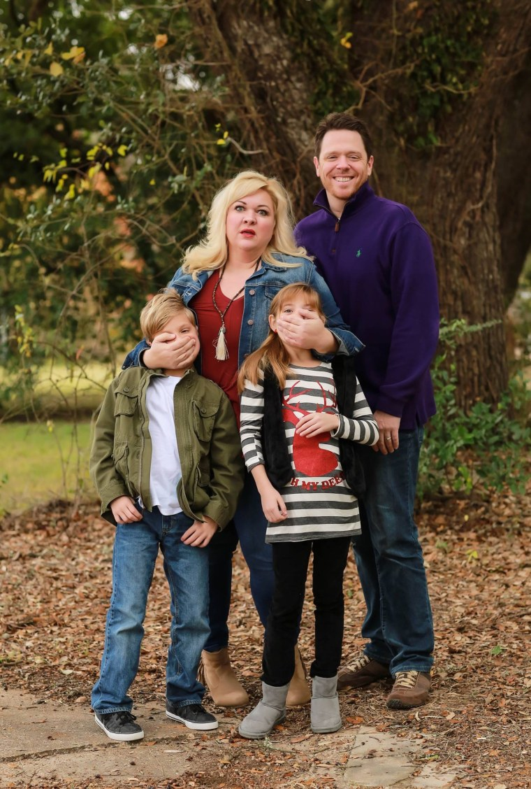Melissa Radke with husband, David, and kids Remi, 10, and Rocco, 8.