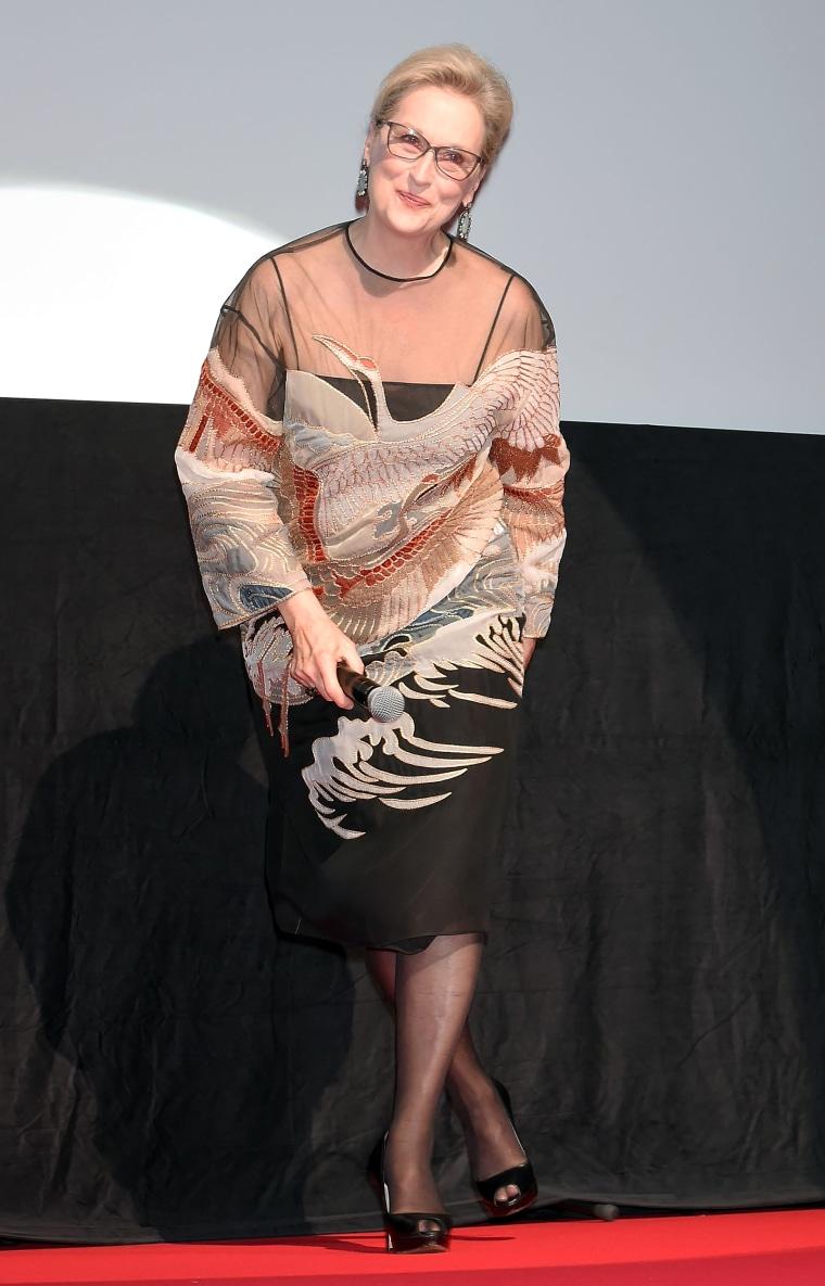 Meryl Streep attends the Tokyo International Film Festival 2016 Opening Ceremony at Ex Theater Roppongi on October 25, 2016 in Tokyo, Japan.