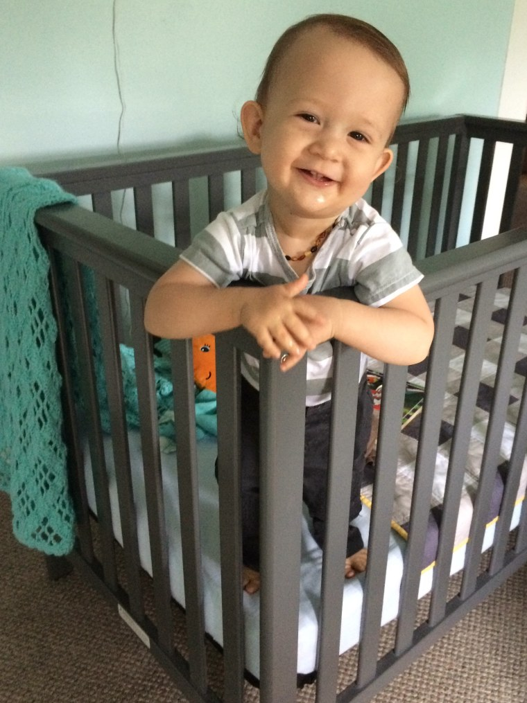 The couple's son, Aiden, was born in June 2015, and today is 19 months old.