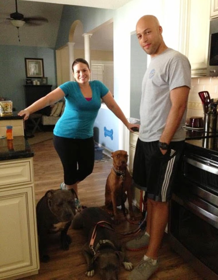 Jade Rouzeau and her husband, Greg, will only rent to tenants with big dogs