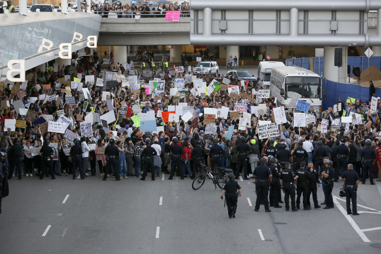 IMAGE: Protest over Trump executive order on immigration, refugees