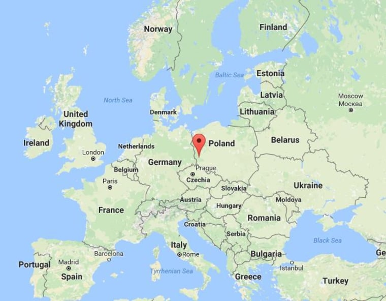 Image: Map showing location of joint exercise in Poland