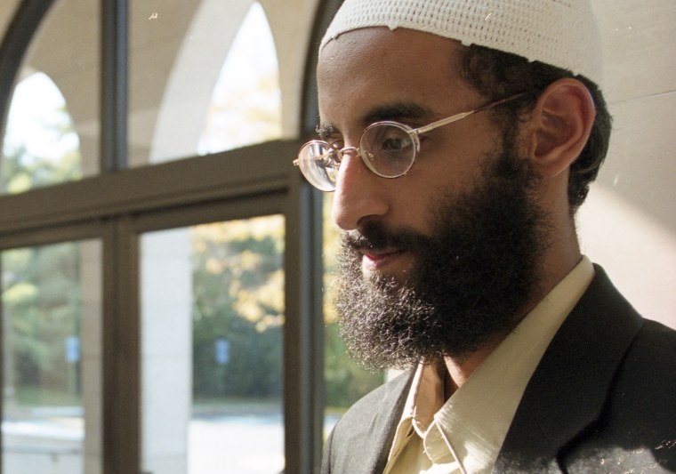 Image: Anwar Al-Awlaki at Dar al Hijrah Mosque on Oct. 4, 2001 in Falls Church, Virginia.